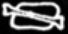 Oud-Egyptisch hiëroglief van vlees met bot.