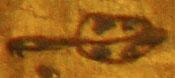 Oud-Egyptisch hieroglief van een staart.