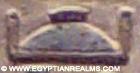 Oud-Egyptisch hieroglief van een deksel.