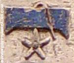 Oud-Egyptisch hieroglief van hemel met ster.
