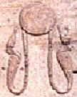 Oud-Egyptisch hieroglief van de zon.