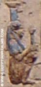 Oud-Egyptisch hieroglief van een Nebet-Het.