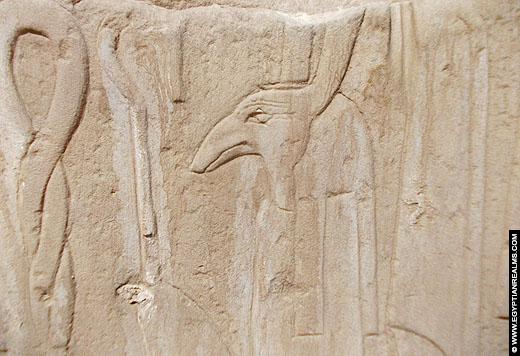 Relief van Set afkomstig van de Karnak Temple.
