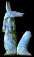 Oud-Egyptisch hieroglief van Duamutef.