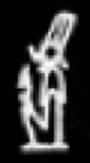 Oud-Egyptisch hieroglief van Mentu.