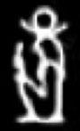 Oud-Egyptisch hieroglief van Khonsu.
