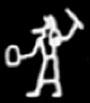Oud-Egyptisch hieroglief van Set.