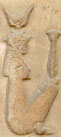Oud-Egyptisch hieroglief van Isis.