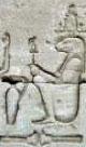 Oud-Egyptisch hieroglief van een reptiel.