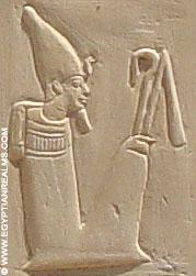 Oud-Egyptisch hiëroglief van een koning.