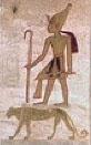 Oud-Egyptisch hieroglief van een koning.
