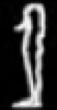 Oud-Egyptisch hieroglief van een lichaam.