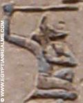Oud-Egyptisch hieroglief van een priester.
