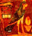 Oud-Egyptisch hieroglief van de ba.