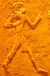 Oud-Egyptisch hieroglief van een koerier.