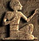 Oud-Egyptisch hieroglief van een man.