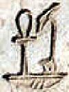 Oud-Egyptisch hieroglief van een Mand.
