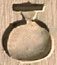 Oud-Egyptisch hieroglief van een pot.