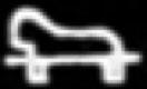 Oud-Egyptisch hieroglief van een stoel.