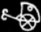 Oud-Egyptisch hieroglief van een span.