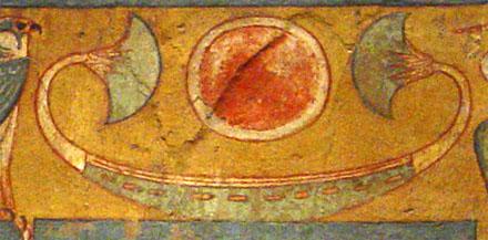 Oud-Egyptisch hieroglief van een papyrusboot.