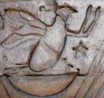 Oud-Egyptisch hieroglief van vogel.