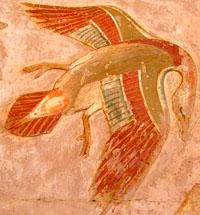 Oud-Egyptisch hieroglief van een vogel.