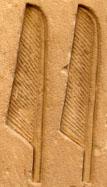 Oud-Egyptisch hieroglief van twee veren.
