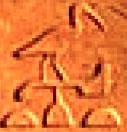 Oud-Egyptisch hieroglief van een ibis.