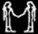 Oud-Egyptisch hieroglief van twee dames.
