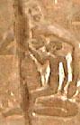 Oud-Egyptisch hieroglief van een vrouw met kind.