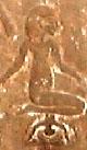 Oud-Egyptisch hieroglief van een moeder.
