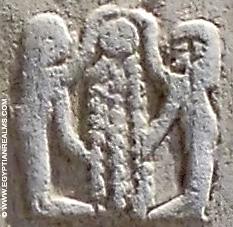 Oud-Egyptisch hieroglief van personen.