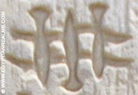 Oud-Egyptisch hieroglief van papyrus.
