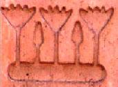Oud-Egyptisch hieroglief van lotussen.