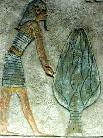Oud-Egyptisch hieroglief van een boom.