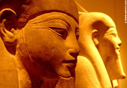 Grote Shabti figuren die in de Tombe van Pharaoh werden bijgezet.