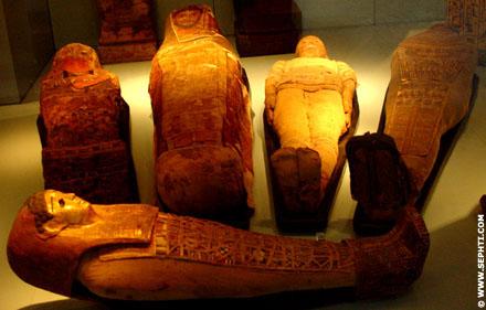 Mummies in verschillende uitvoeringen.