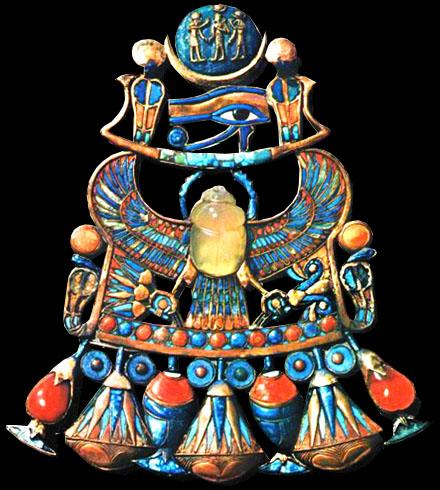 Prachtig juweel uit de inventaris van Tutankamun.