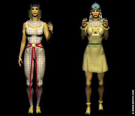 Reconstructie van Egyptische kleding.