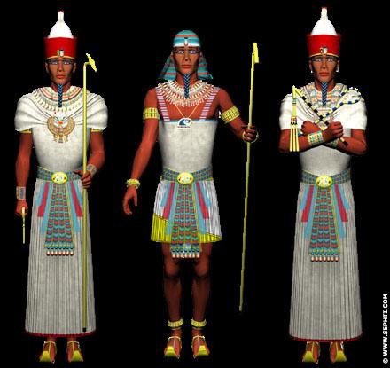 Reconstructie van kleding Farao.