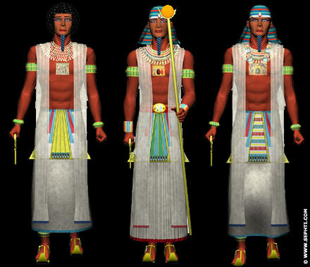 Reconstructie Egyptische kleding
