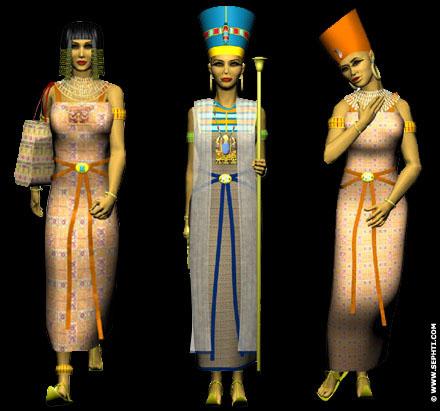 Reconstructie Egyptische kleding.