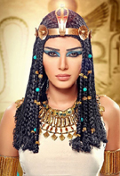 Tenue van een oud-Egyptische koningin.