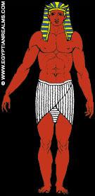 Illustratie van een oud-Egyptische koning.