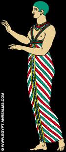 Illustratie van een oud-Egyptische priesteres.