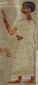 Relief voorstelling van een oud-Egyptische man.