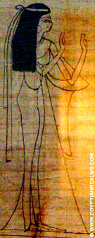 Tenue van een Egyptische dame.