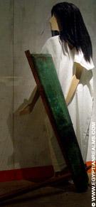Tenue van een Egyptische harpspeler.