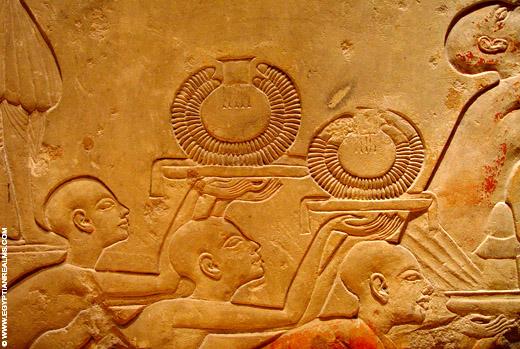 Egyptische halssnoeren.